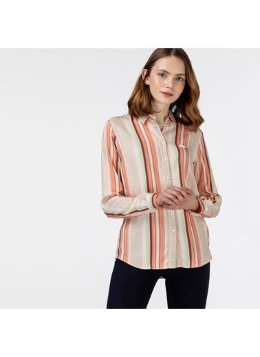 Lacoste Kadın Çizgili Gömlek CF0125.25P Pembe